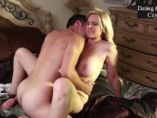 stepmom , blonde , making , love , stepson ,